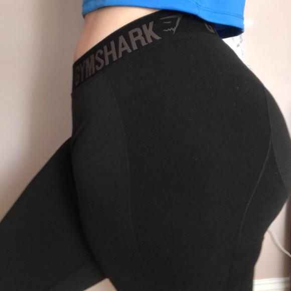 47ea5d159b77e Gymshark Pants - GYMSHARK WOMEN'S FLEX LEGGINGS BLACK MARL/BLACK